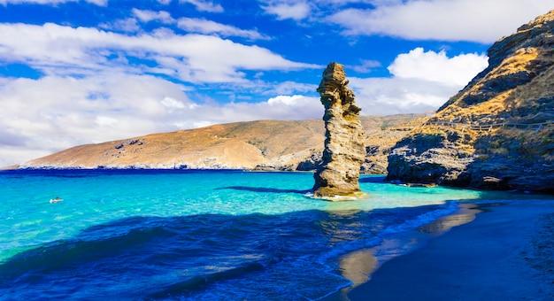 Самые красивые пляжи греции из серии - от тис-гриас до пидима. остров андрос, киклады