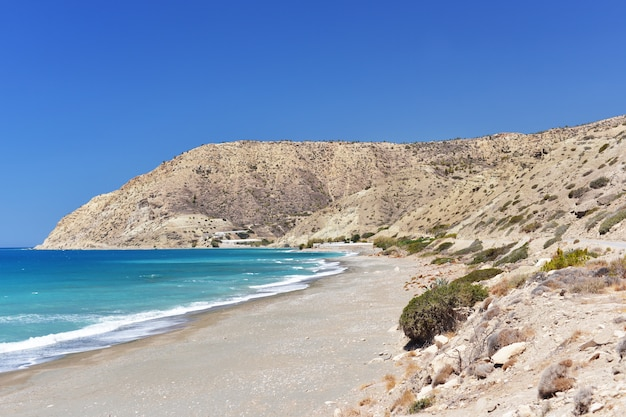 Most beautiful view of the middle sea , crete, greece