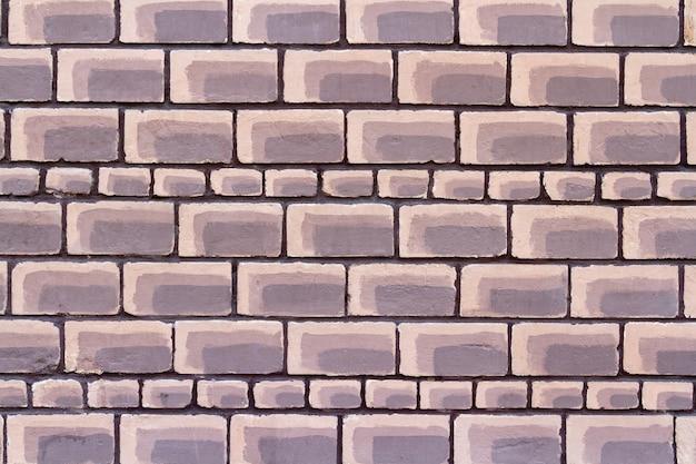 The most unusual brick wall. bright brown brickwork