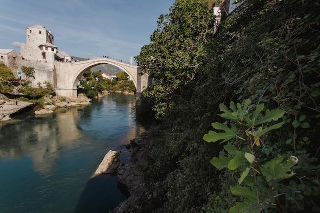 Mostar old bridge in bosnia and herzegovina