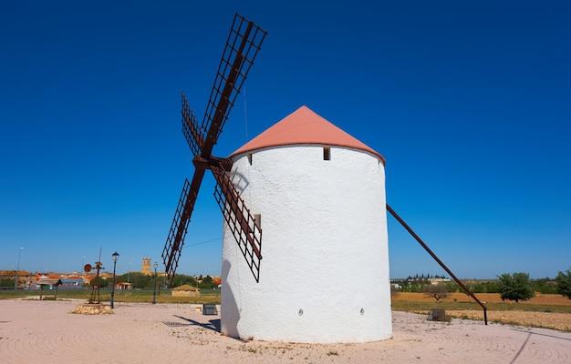 Mota del cuervo windmills in cuenca at castile la mancha