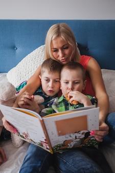 어머니와 아이들 책을 읽고