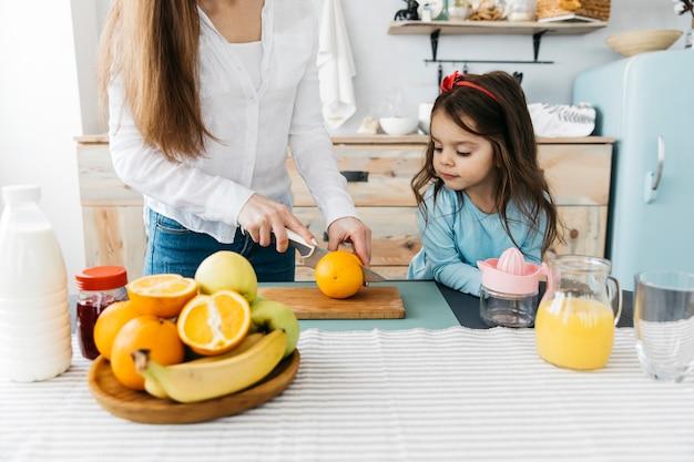 Мать завтрака дочи