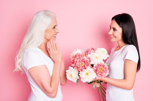 엄마와 딸 꽃