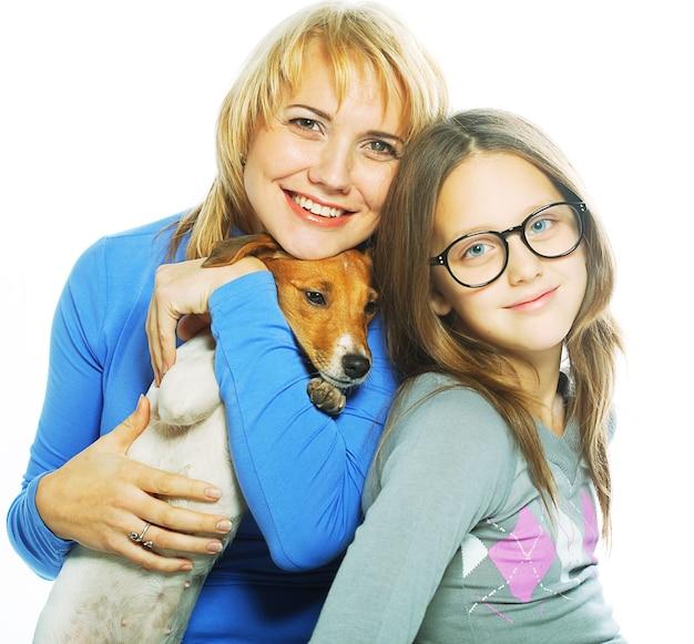 ジャックラッセルテリアの母と娘。