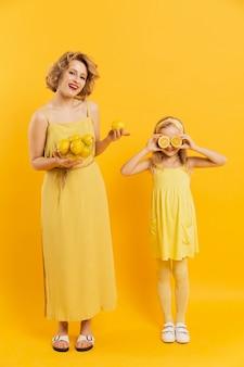 母と娘のレモン