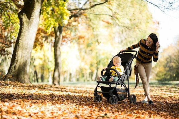 어머니와 아들 이을 공원에