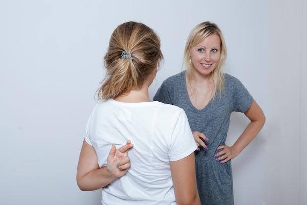 Мать спрашивает свою дочь-подростка