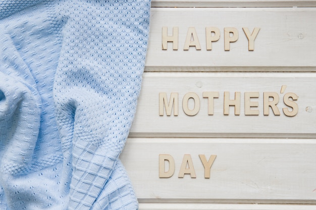 Mother day composition with clothes
