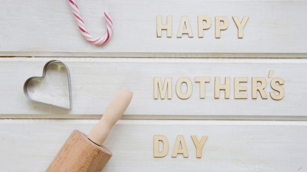 Mother day composition with kitchen elements