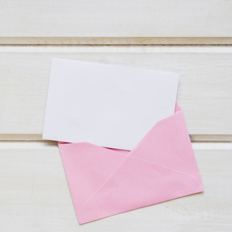 Mother day composition with pink envelope