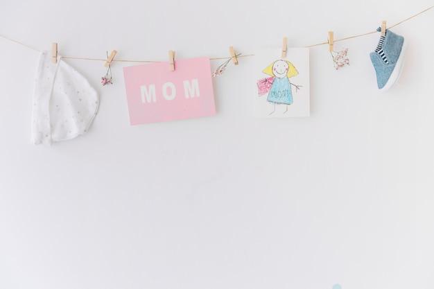 Концепция материнского дня с помощью copyspace