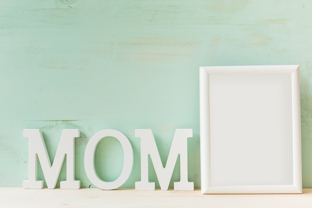 Mother day concept with frame