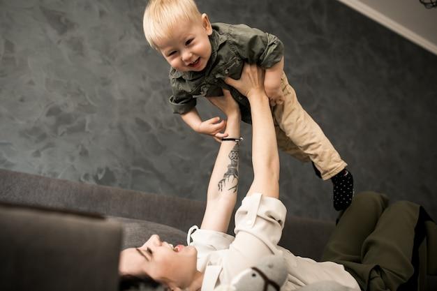 Madre e suo figlio
