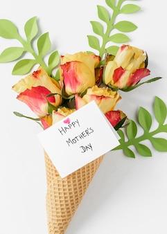 花で母の日のお祝い