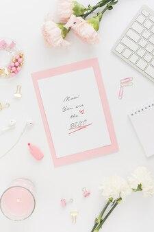 Письмо ко дню матери с цветами