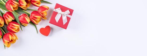 Mother's day, valentine's day background, tulip flower bunch
