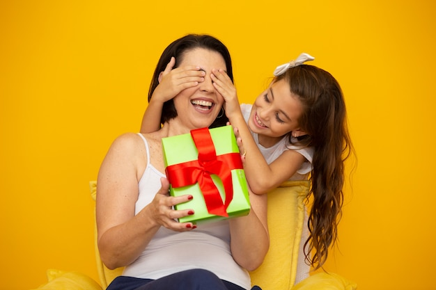 Mother's day with gift box surprise