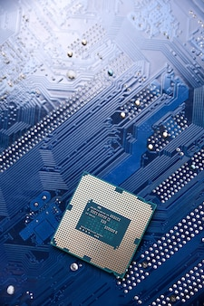 Motherboard digital chip background.
