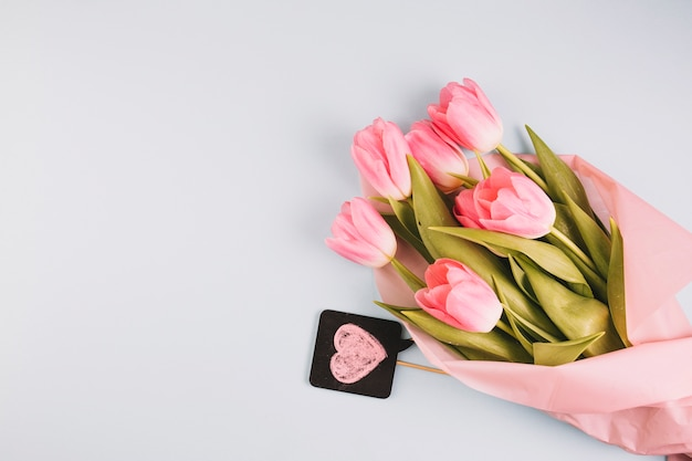 Mothers day concept with beautiful roses