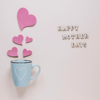 Mothers day concept with mug