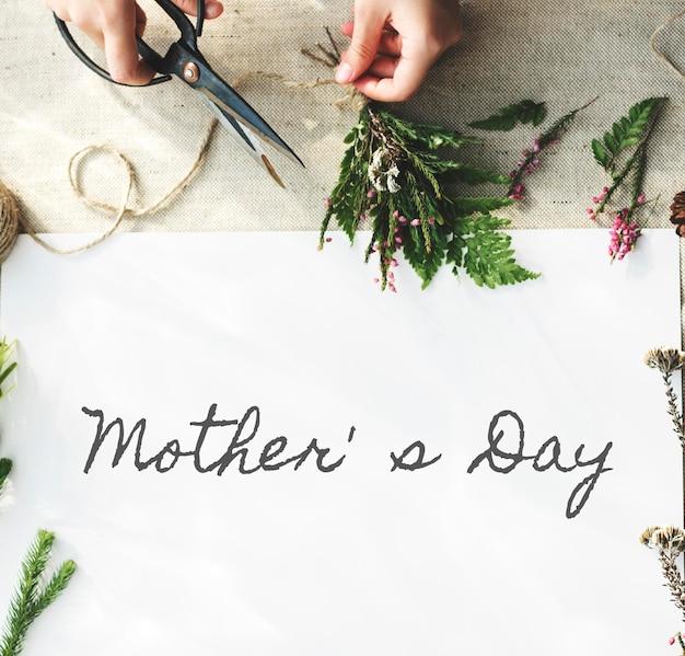 母の日幸せなお祝いのコンセプト