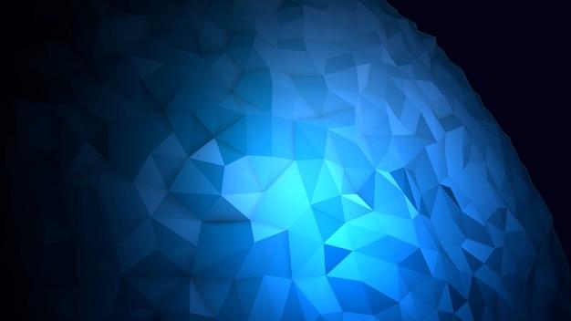 宇宙、黒い背景のモーション抽象青い液体オーブ。モダンでコスモステンプレートのエレガントで豪華な3dイラストスタイル