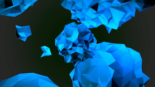 Движение абстрактный синий жидкий шар в космосе, черный фон. элегантный и роскошный стиль 3d иллюстрации для шаблона модерна и космоса