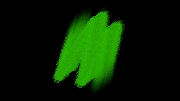 モーション抽象的な緑のブラシ、カラフルなグランジの背景。流行に敏感な水彩画のテンプレートのエレガントで豪華な3dイラストスタイル