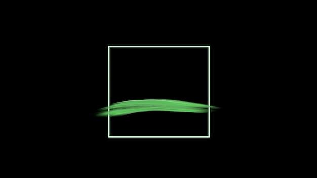 モーション抽象的な緑のブラシ、カラフルなグランジの背景