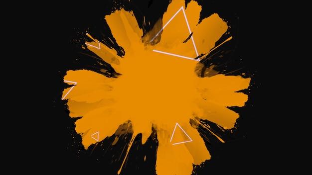 모션 추상 오렌지 반점 및 밝아진, 어두운 그런 지 배경. 힙스터와 수채화 템플릿을 위한 우아하고 고급스러운 3d 그림 스타일