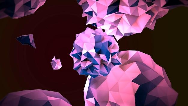 宇宙、黒い背景の動きの抽象的な紫色の液体の球。モダンでコスモステンプレートのエレガントで豪華な3dイラストスタイル