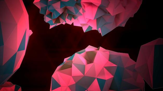 宇宙、黒い背景のモーション抽象的な赤い液体オーブ。モダンでコスモステンプレートのエレガントで豪華な3dイラストスタイル