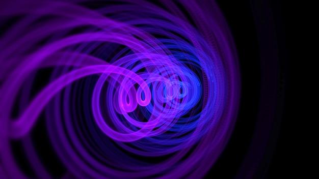 Красочные линии движения, абстрактный фон. элегантный динамичный неоновый стиль, 3d иллюстрация