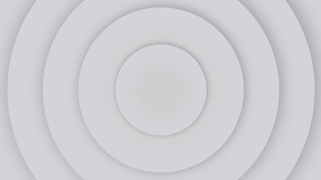 Движение геометрические белые круги гипноза, ретро абстрактный фон. элегантный и роскошный стиль 3d иллюстрации для делового и корпоративного шаблона