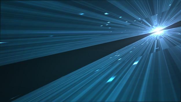 抽象的なビッグデータのデジタルセンター、サーバー、データ通信のモーショングラフィック