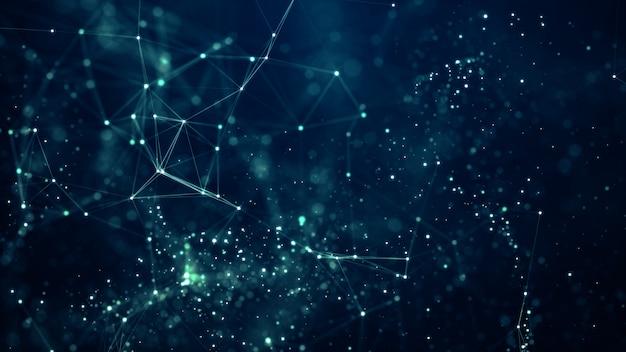 디지털 데이터 흐름의 움직임.