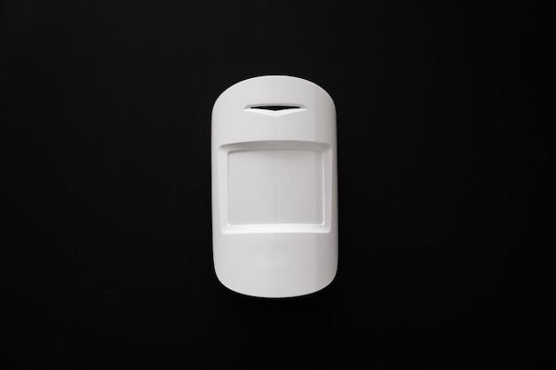 Motion sensor on the black wall