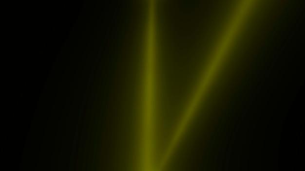 Движение желтых светящихся лучей прожектора на темном фоне в сцене