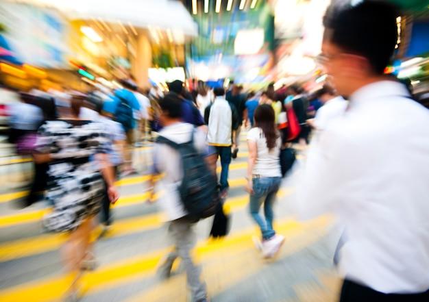 香港、中国のmotioncommutersの人々