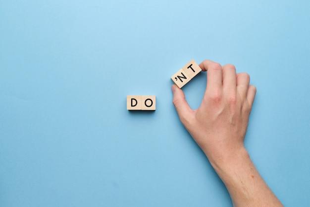 Мотивационная бизнес-концепция, которую нужно сделать. закройте вверх.