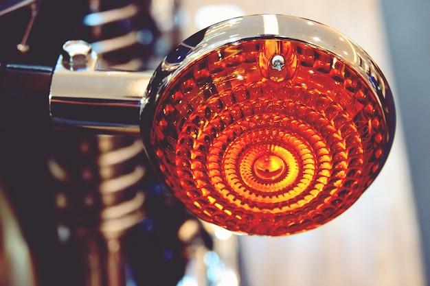 Motor bike detail-a yamaha motorcycle was shown at seacon square bangkok shopping mall
