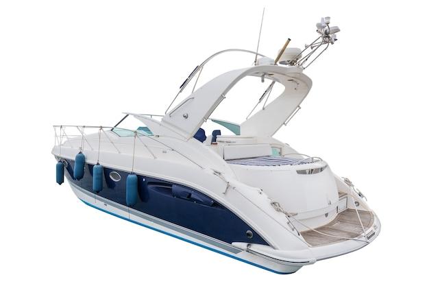 白で隔離されるモーターボート