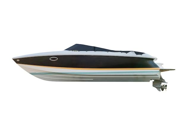 Моторная лодка, изолированные на белом фоне