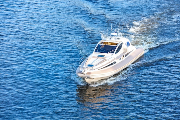 Motor boat on the river