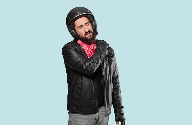 Motorbike rider accident victim