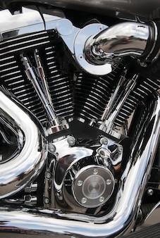 Мотоциклетный двигатель крупным планом