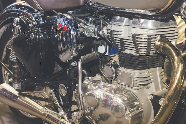 Motorcycle engine,detail of motorcycle engine.