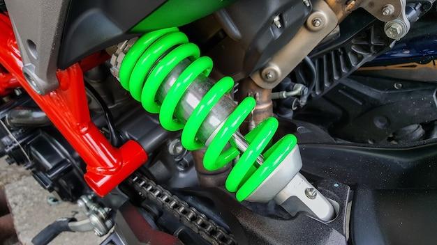 二輪車用ショックアブソーバーは、衝撃や振動を吸収する装置です。