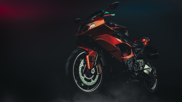 Motorcycle in studio